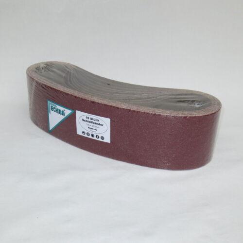 10 Schleifbänder für Bandschleifer 100 x 910mm P60 mit stabilem Gewebe Eckra