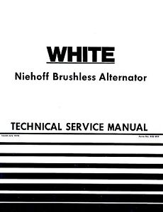 oliver white niehoff brushless alternator tractor service manual ol rh ebay com Heavy Duty Truck Batteries Heavy Duty Truck Batteries