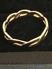 JAMES AVERY -SIZE 5 1/2 14k Yellow Gold Twisted Wire Ring RARE!
