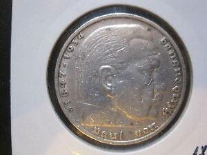 Deutsches Reich 5 Reichsmark 1936 G Paul Von Hindenburg Silber