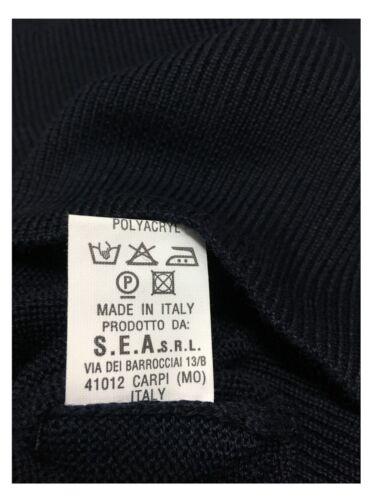 50 Polo Bellwood Uomo Lana Italy In Maglia Blu Acrilico Made 6q6xRIB