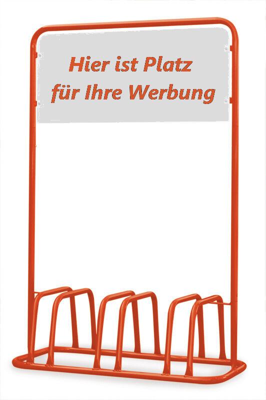 3er mit Fahrradständer mit 3er Werbe-Schild - Orange - d63871