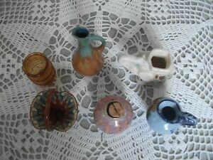 Lot-de-7-objets-POTERIE-ANCIENNE-MINIATURE-OLD-POTTERY-SMALL-PITCHERS