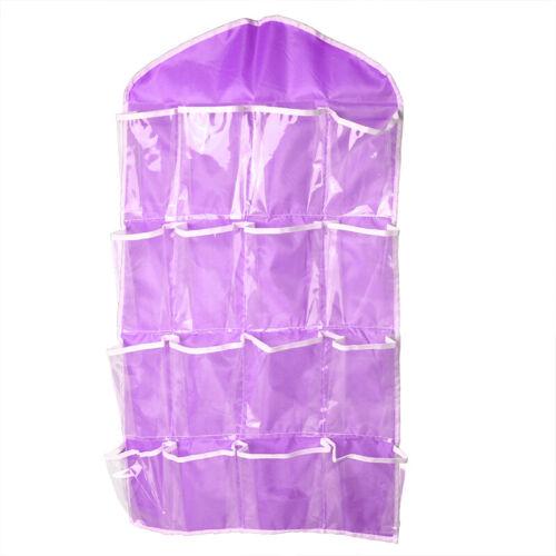 16 Pockets Clear Over Door Hanging Bag Shoe Rack Hanger Storage Organizer Nice