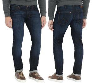 Wrangler-Herren-Jeans-Hose-Larston-Patina-Hipster-Marineblau-W29-W38