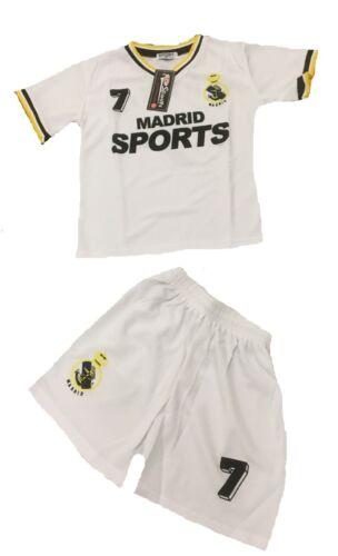 BOYS /& GIRLS FOOTBALL KIT KIDS VEST T SHIRT /& SHORT SOCCER SUMMER SET KIT 2-16