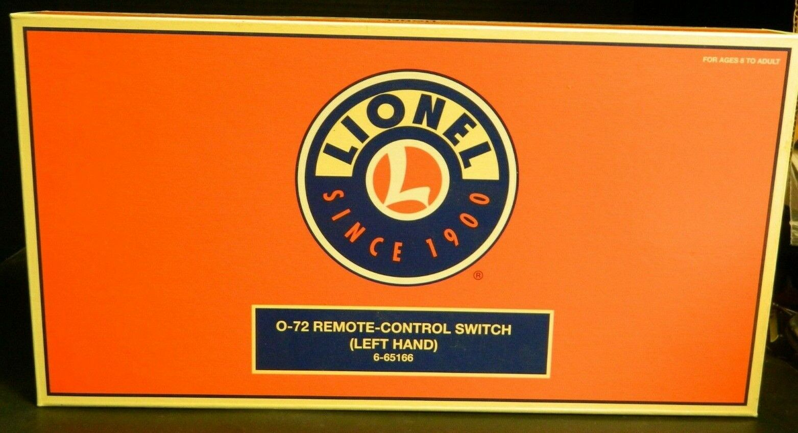 Lionel O-72 o escala Interruptor de control remoto de mano izquierda 6-65166 en Caja Orig. muy Bueno-ex