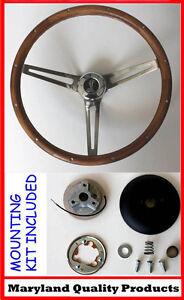 1965-1969-Mustang-GRANT-Wood-Steering-Wheel-Walnut-Cobra-Center-15-034