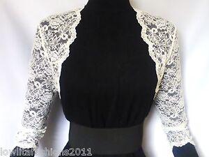 Ladies Ivory/White Lace Bridal 3/4 sleeve Bolero, Jacket Sizes 16 & 18 UK