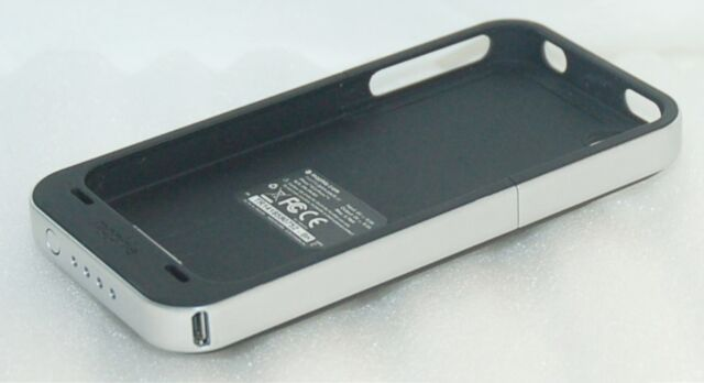 Mophie Juice Pack Air BLACK Case 4 Apple iPhone 4 4S Charger Battery Back Cover