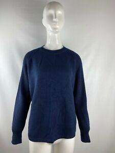 NWT-Vince-Navy-Blue-Knit-Crewneck-Pullover-Sweater-Women-s-Size-XS