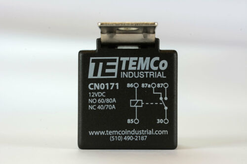 25 LOT TEMCo 12 V 60//80 Amp Bosch Style S Relay with Harness Socket Automotive