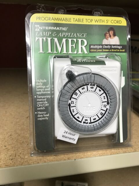 intermatic lamp appliance electrical timer program tabletop light plug cord new