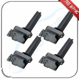 Set of 4 Ignition Coils Pack for 2003-2011 Saab 9-3 9-3X l4 2.0L Turbo Replace 12787707 UF-526