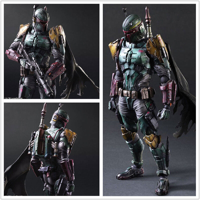 10  Star Wars Boba Fett Action Figure Play Arts Kai Collection Toy Gift In Box