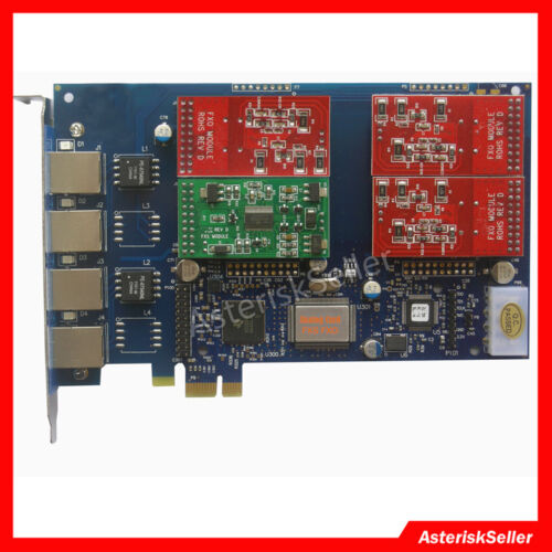 Asterisk Card 3 FXO+1 FXS Port,FXS FXO Board Issabel Phone System tdm410p aex410