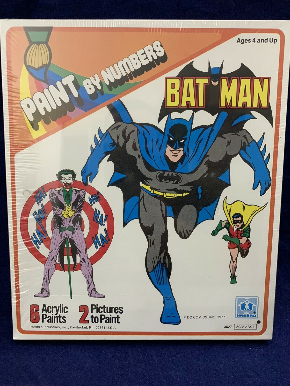 Batman 1977 Paint By Numbers Hasbro Sealed CASE FRESH