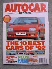 Autocar (16/23 Dec 1992) Camaro, Lotus, BMW E1, Peugeot 405 T16, Cavalier, Vento