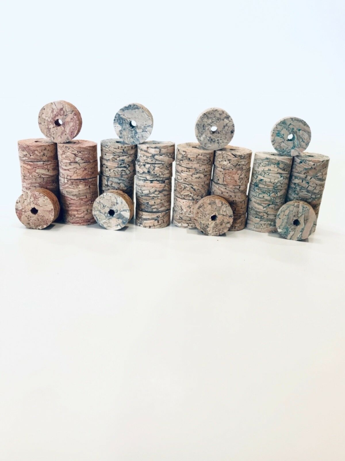 Cork Rings Premium River  Burl Assortment, 48 Rings, 1 1 4  x 1 2  x 1 4   preferential