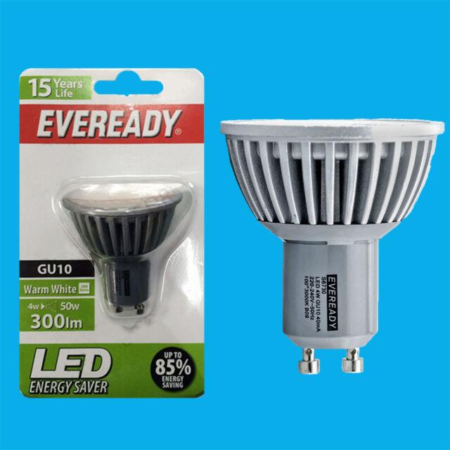4W (=50W) Eveready LED Ultra Low Energy Instant Start GU10 Spot Light Bulb Lamp