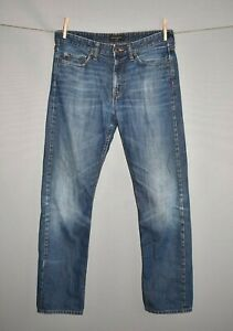 BANANA-REPUBLIC-80-Distressed-Slim-Straight-Leg-Denim-Jean-Men-039-s-33-X-32