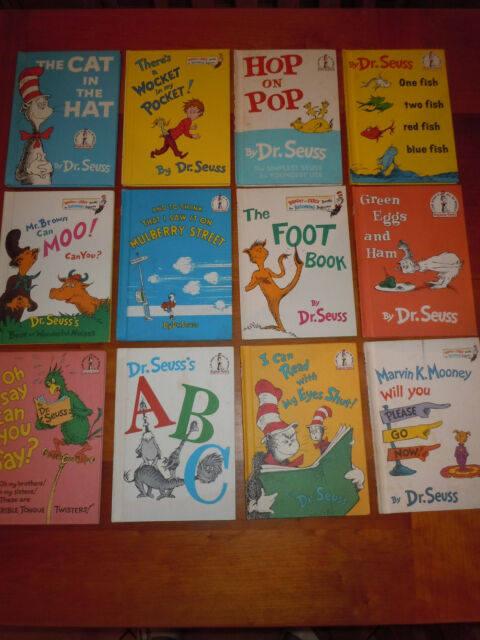 12Bks Vintage HC Dr. Seuss 1st Edition Book Club Editions 1960s 70s & 80s EUC