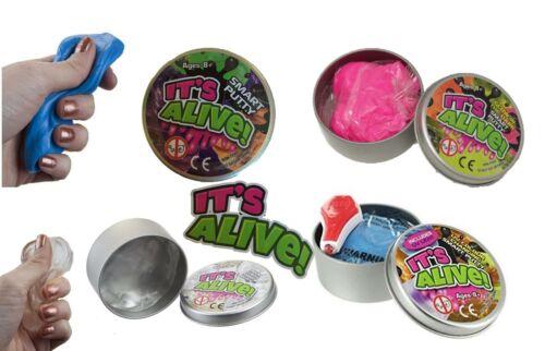 Smart Mastic Slime Kids changement de couleur Verre GLOW UV Cadeau 5 10 20 Tin MIX aléatoire