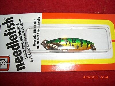 Luhr Jensen Needlefish Size 2 1051-002-0582 LIME GREEN FISH SCALES