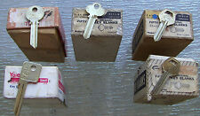 Lot of 5 VINTAGE  Key BLANKS   2 YALE  and 3 CORBIN  GOOD FOR STAMPING ...