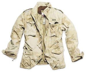 Excedente-Vintage-Regimiento-M65-chaqueta-lavado-Clasico-Parka-nos-campo-Desert-Camo