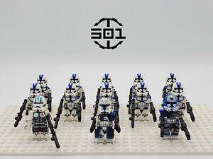 Star-Wars-501st-Squadron-Captain-Rex-Jesse-Echo-Set-13-Minifigures-Lot-USA-SELL