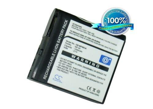 Battery for Casio EX-Z1080PK Exilim EX-Z40 EX-Z1080 Exilim Zoom EX-Z700GY EX-FC1