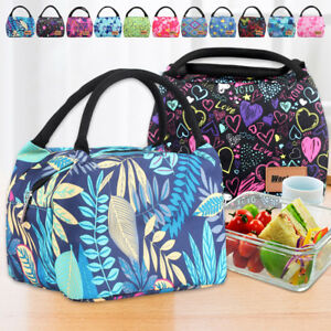 Kids Women Insulated Bento Lunch Cooler Bag Stylish Lunch Box Office ... a4164c5e3