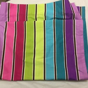 Details About Your Zone Curtain Panels Bright Multi Color Rod Pocket 40x82 Easy Care