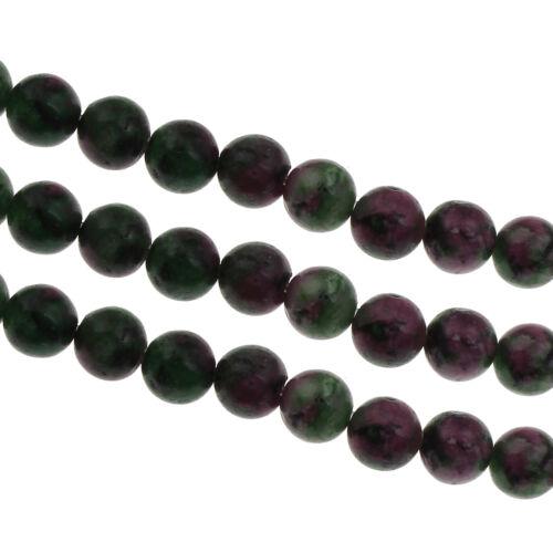 40 rubin en zoisit Ruby en Zoisite 4mm bala Edelstein perlas unakite Best g191