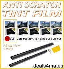 ANTI-SCRATCH CAR VAN WINDOW TINT FILM SUPER DARK LIMO BLACK  5% 76cm x 6M