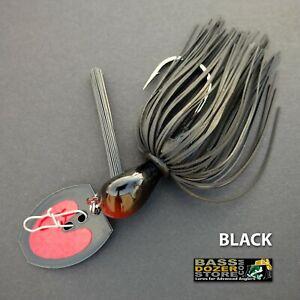 Bassdozer-BLADED-jigs-BLACK-SNAGLESS-bass-jig