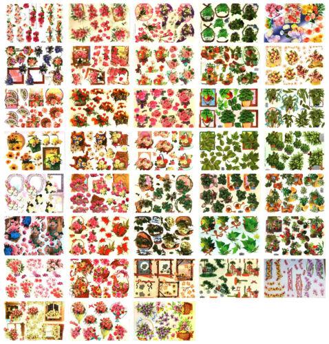 Floral Tijeras necesarios 38 Hojas cardmaking Parachoques Ganga Decoupage Kit