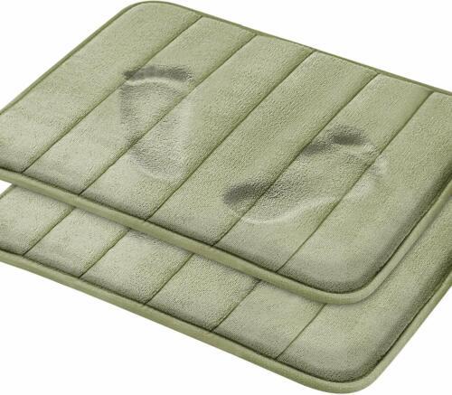 Non Slip Ultra 2 Pack Magnificent Memory Foam Bath Mat 17 x 24 Bathroom Rugs