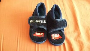 Baby-boy-slippers-by-Clarks-worn-twice-only-UK-5infant-navy