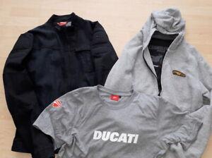 Ducati-Jacke-Jeans-Cafe-Racer-Pullover-Scrambler-Shirt-Grose-L