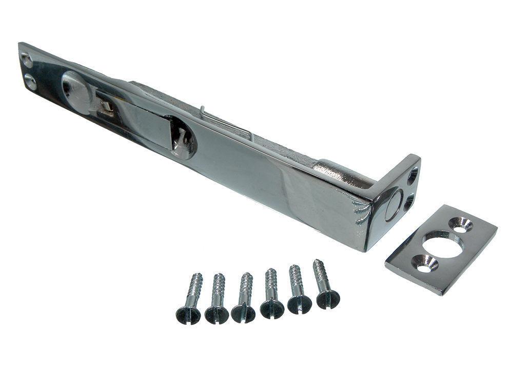 Nuovo (Lotto di 6) Porta Blocco di Sicurezza Bullone a Filo 150Mm 15.2cm + Viti