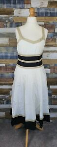 Fenn-Wright-Manson-White-Linen-Sleeveless-Dress-Size-UK-12