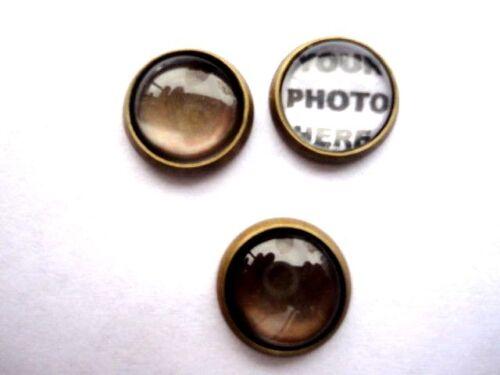 8 mm Foto Personalizado encanto para Joyería Medallón flotante de crear tu propio encanto