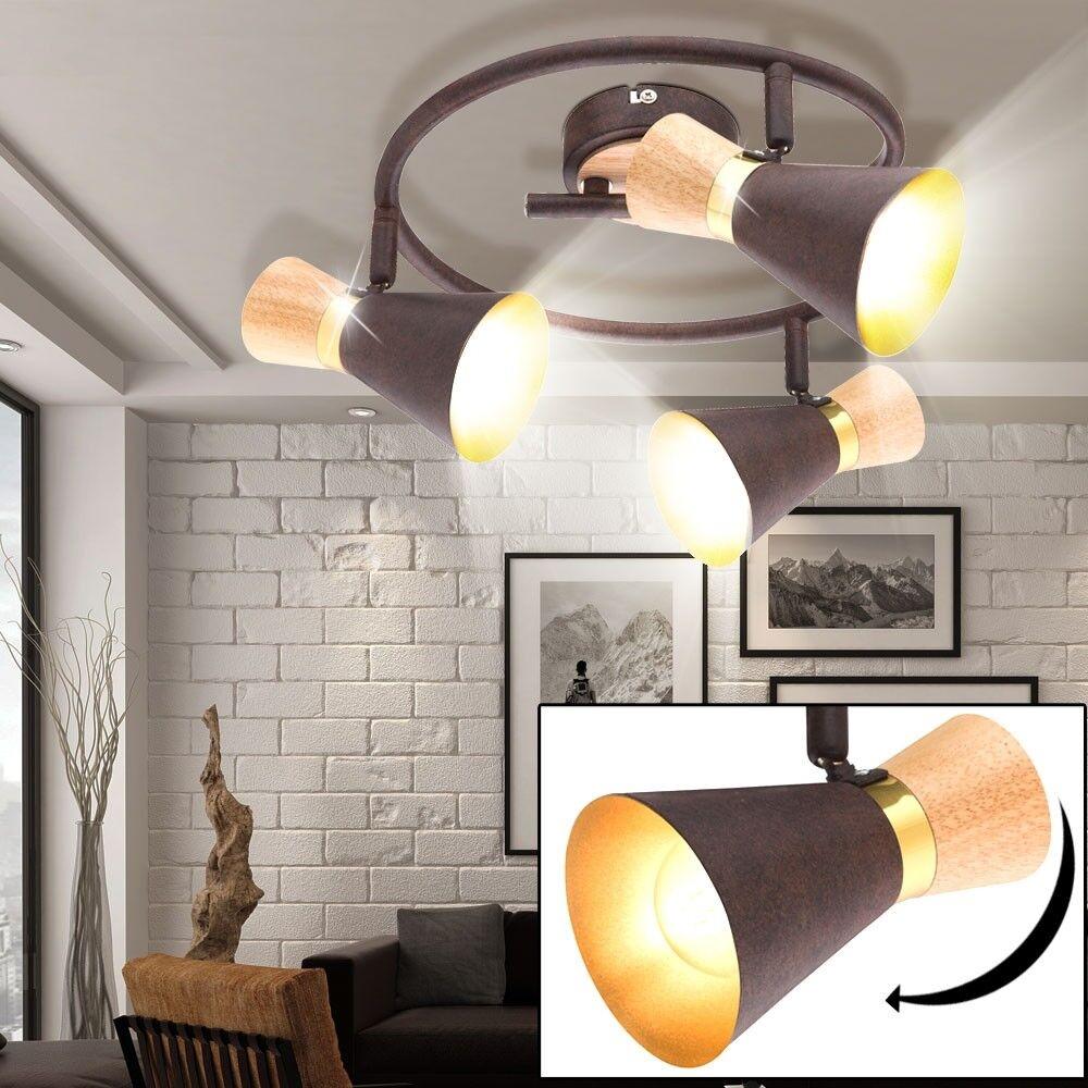 Style de campagne Plafonnier Rondell Éclairage de salon Spotlight pivotant lampe