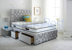 64e0e92fc345 Image is loading Divan-IBEX-PLUS-EXTRA-STORAGE-CHESTERFIELD-DIVAN-BED-