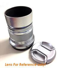 Silver Metal Screw-in lens hood for Olympus M.ZUIKO DIGITAL 45mm 1:1.8 M4/3