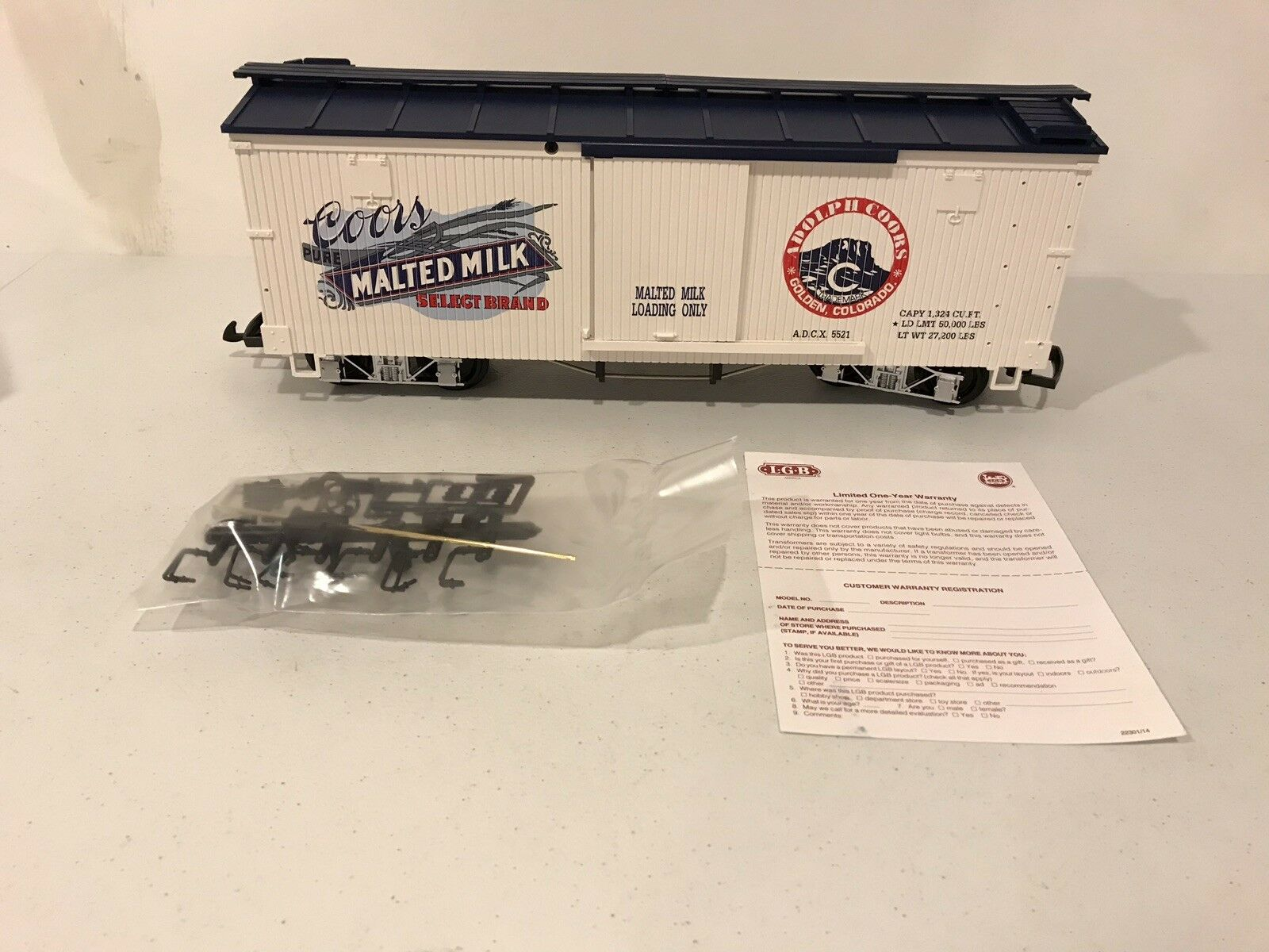 LGB G Scale 46670 Coors Malted Milk Box Car Collection Item