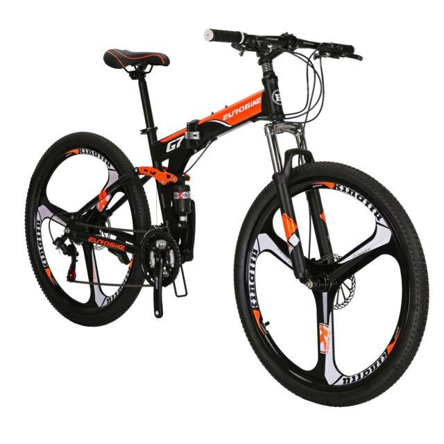 938a48b21c9 Folding Mountain Bike 21 Speed Full Suspension Mens Bikes MTB 27.5
