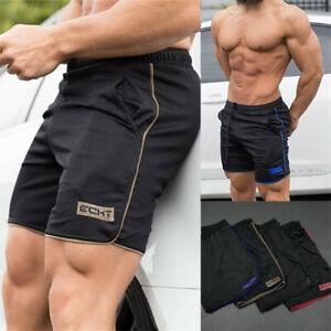Men-039-s-Sports-Training-Bodybuilding-Summer-Shorts-Workout-Fitness-GYM-Short-Pants